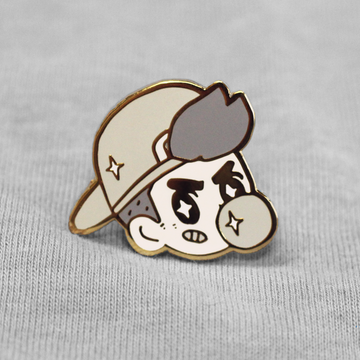 Tough Guy! Gray Enamel Pin