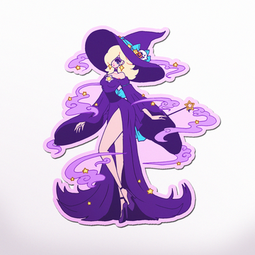 XL WITCH ROSALINA VINYL STICKER
