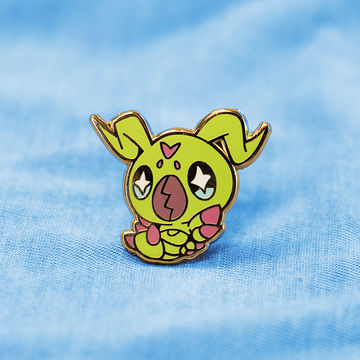 DIGIBABY WORMMON ENAMEL PIN