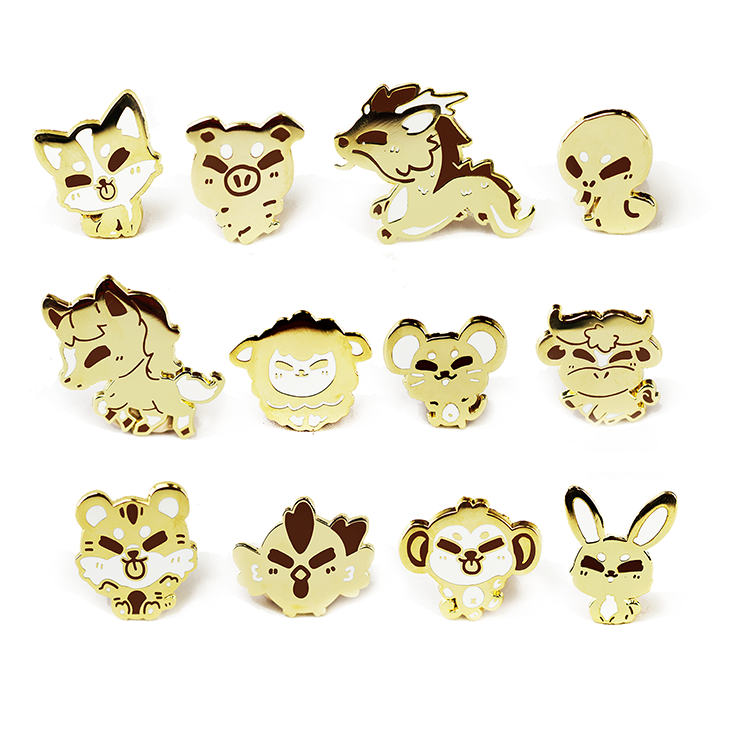 ZODIAC ANIMAL ENAMEL [FULL SET 12 PC] [LIMITED EDITION]