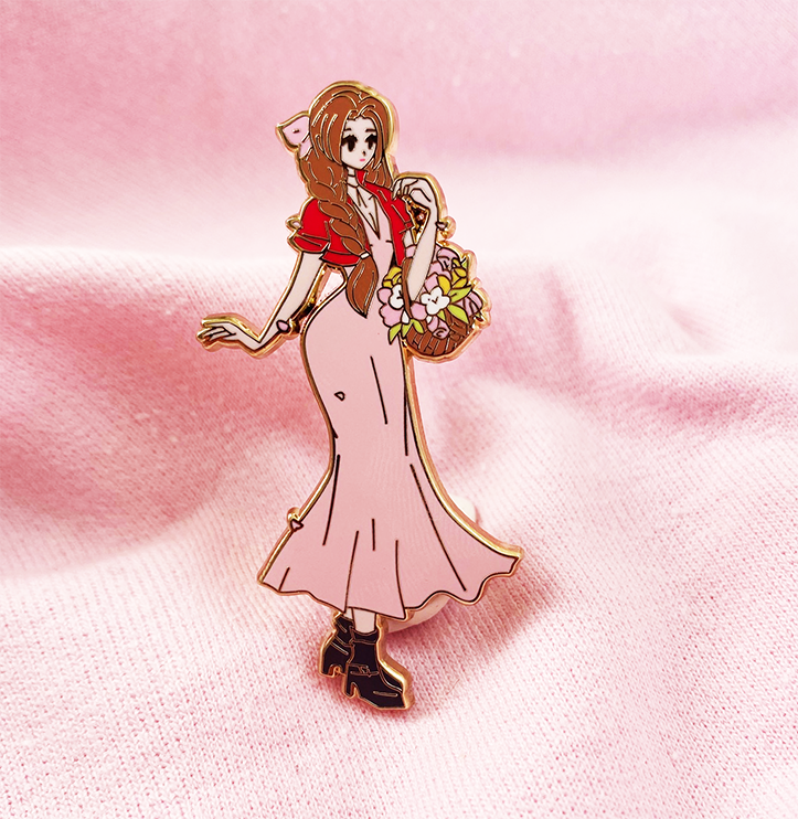 FF DIVA AERITH ENAMEL PIN [LIMITED EDITION]