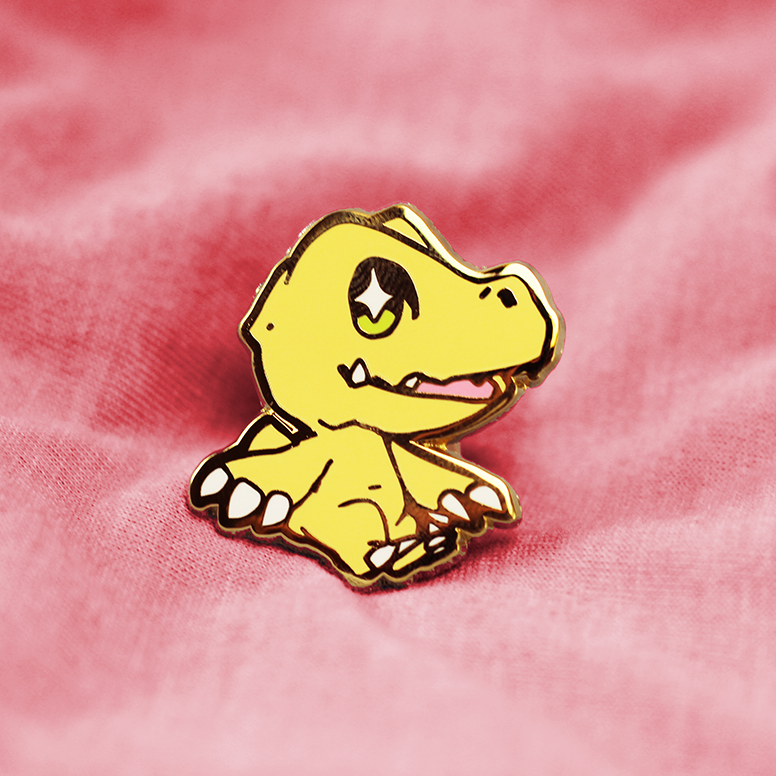 DIGIBABY AGUMON ENAMEL PIN