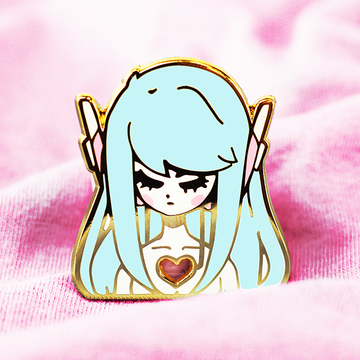 ANDROID GIRL ENAMEL PIN