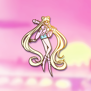 BAD GIRL USAGI FASHION SCOUT ENAMEL PIN [LIMITED EDTION] [PREORDER]