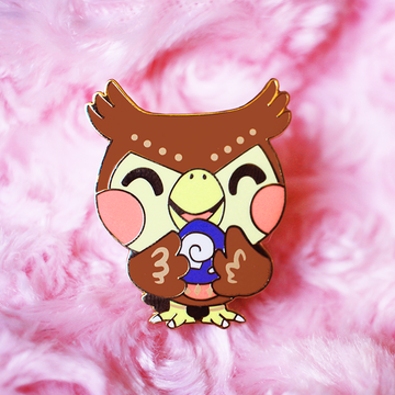 Fossil Blathers Enamel Pin [Villager]