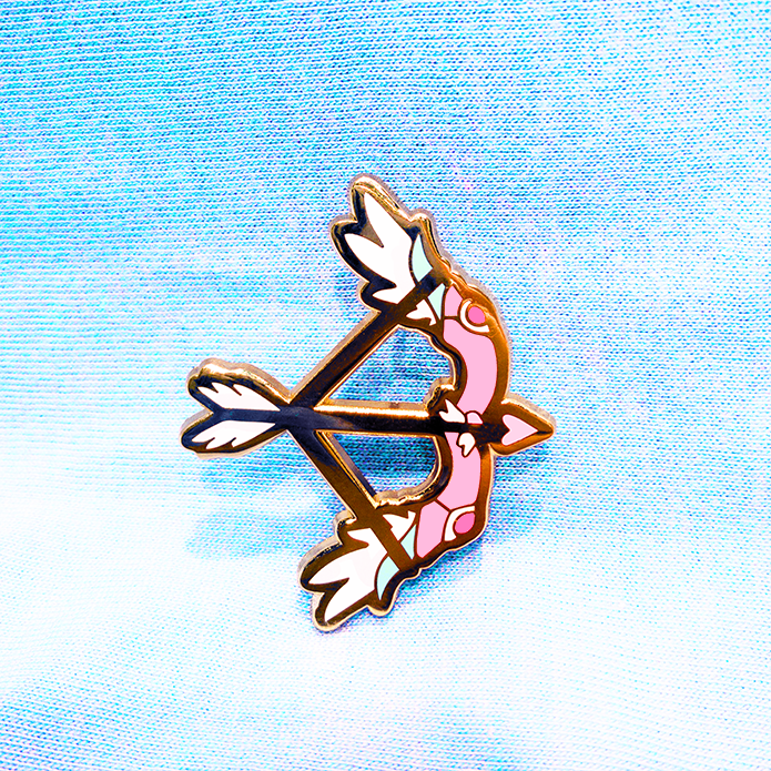 MAGICAL BOW AND ARROW ENAMEL PIN