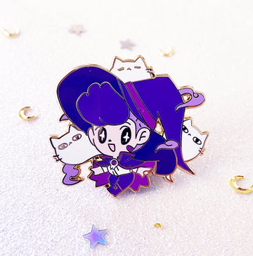 WITCH BOY KITTY SUMMONER ENAMEL PIN