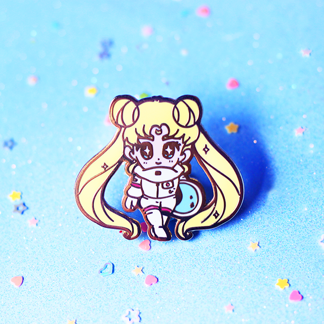 SPACE USAGI ENAMEL PIN
