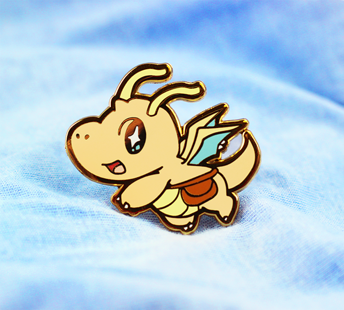 BABY DRAGONITE ENAMEL PIN