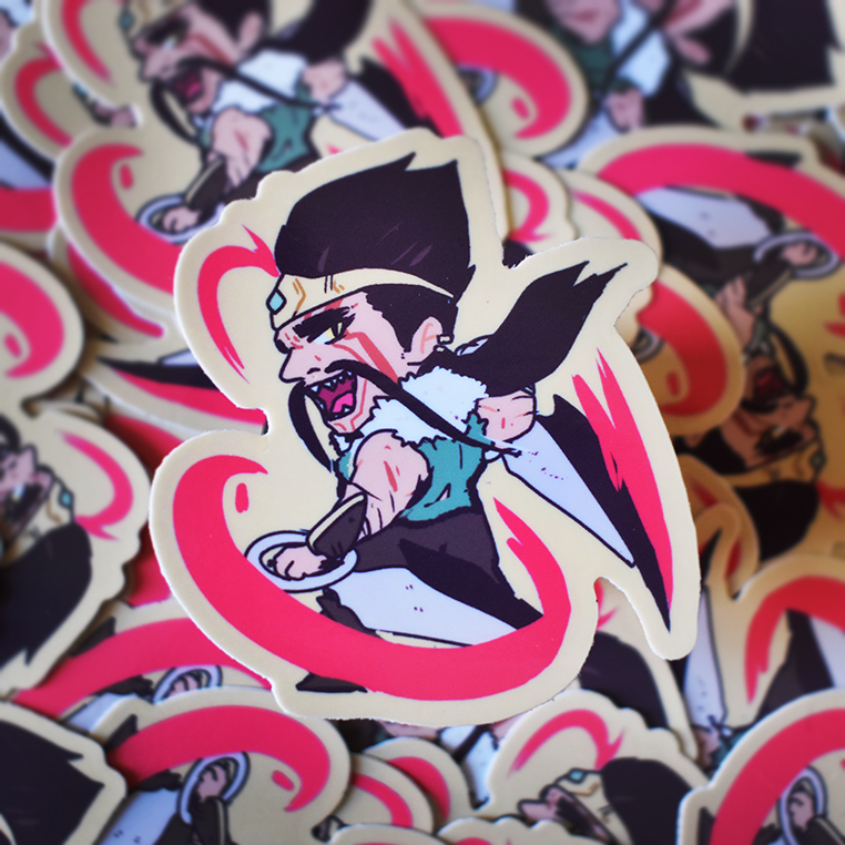 Draven Vinyl Sticker