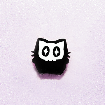 SKULL KITTY ENAMEL PIN [FALL 2017]