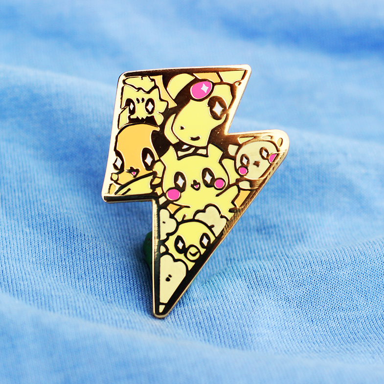 ELECTRIC POKETYPE BADGE ENAMEL PIN