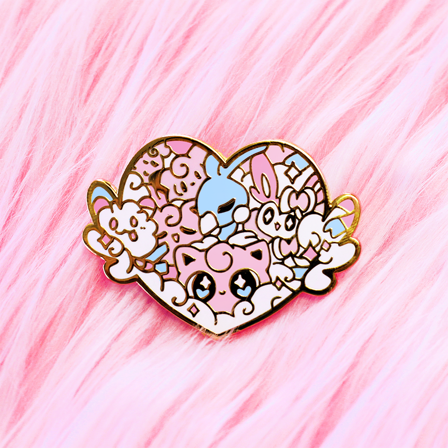 FAIRY POKETYPE BADGE ENAMEL PIN