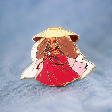 PAINTED LADY KATARA ENAMEL PIN [LE]