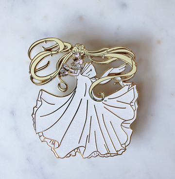 FASHION SCOUT CRYSTAL PRINCESS SERENITY ENAMEL PIN [LIMITED EDITION]