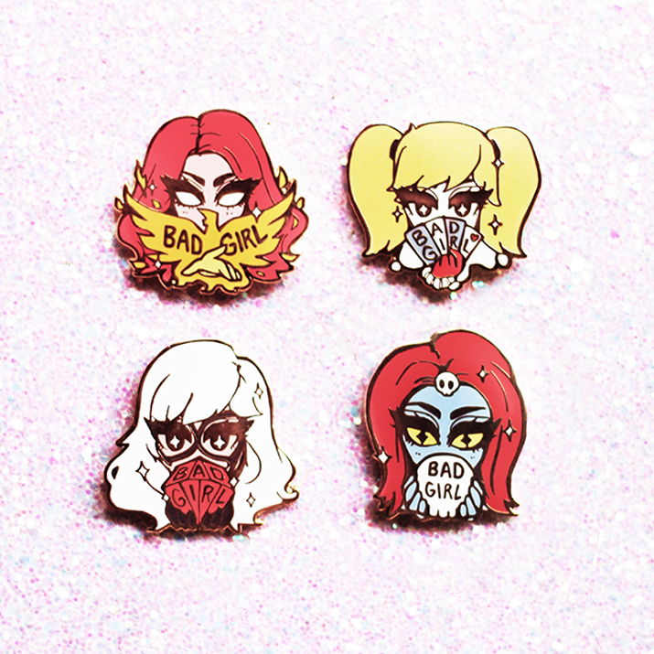 BAD GIRLS CLUB ENAMEL PIN SET [SEASON 2]