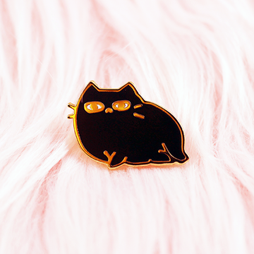 SEXY CAT ENAMEL PIN [BLACK]
