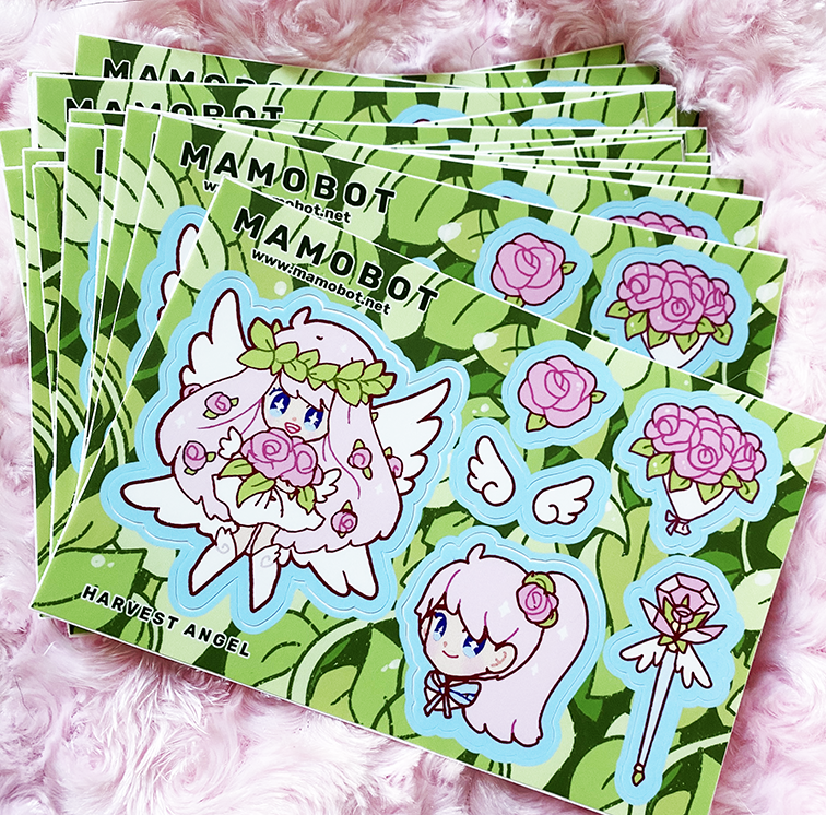 Harvest Angel Sticker Sheet