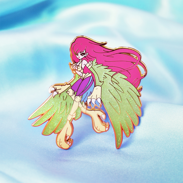 FASHION HARPIE LADY ENAMEL PIN [GLITTER]
