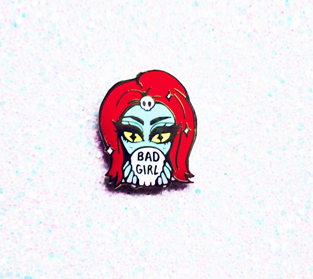 BAD GIRL MYSTIQUE ENAMEL PIN