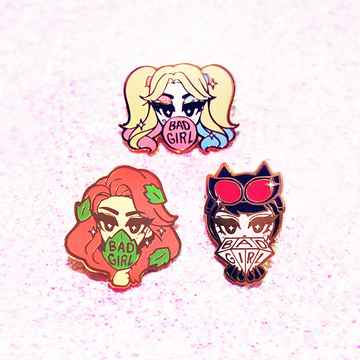 BAD GIRLS CLUB ENAMEL PIN SET [SEASON 1]