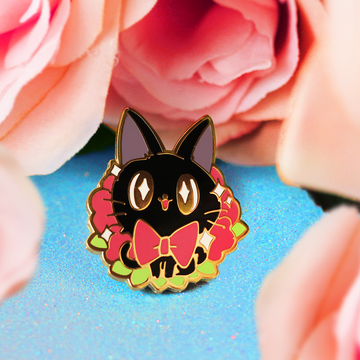 JIJI CAT ENAMEL PIN