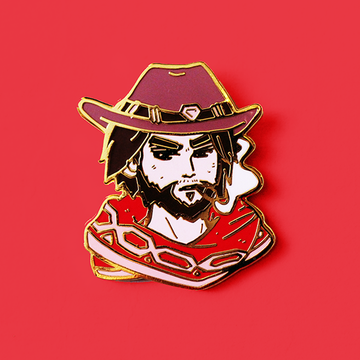OVERWATCH MCCREE ENAMEL PIN