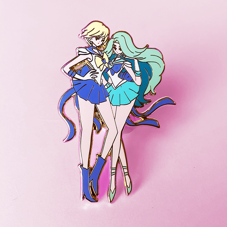 URANUS & NEPTUNE FASHION SCOUT ENAMEL PIN [PREORDER] [LIMITED EDITION]