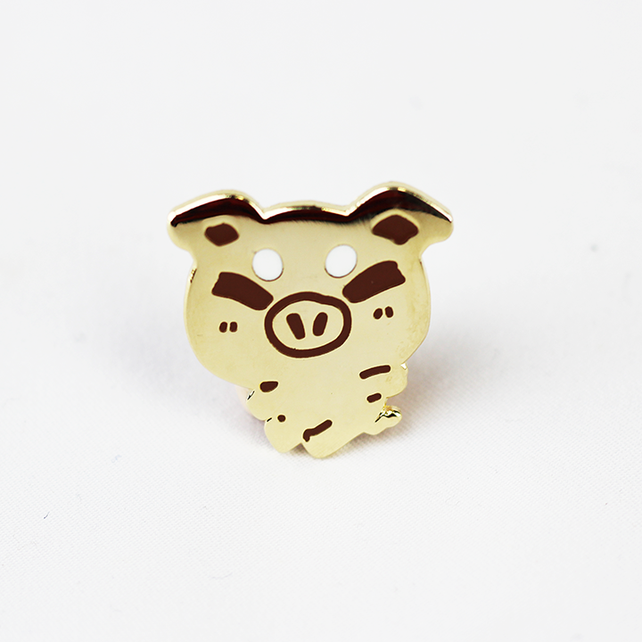ZODIAC PIG GOLD ENAMEL PIN [LIMITED EDITION]