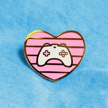 GAMER HEART [PINK] ENAMEL PIN