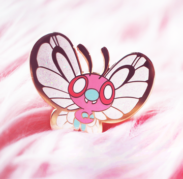 BABY BUTTERFREE [PINK] ENAMEL PIN