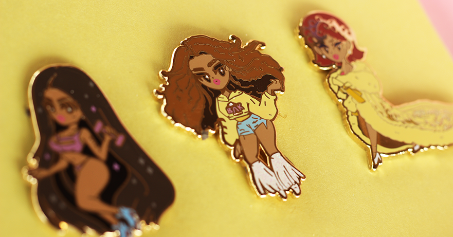 POP GIRL BEY ENAMEL PIN [LIMITED EDITION]