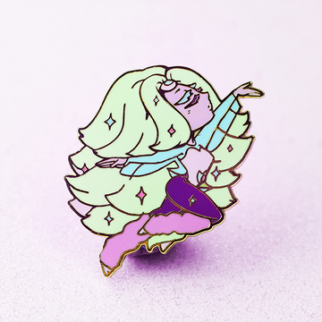 SU RAINBOW QUARTZ ENAMEL PIN