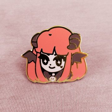 MONSTER GIRL: SUCCUBAE ENAMEL PIN [INCUBUS RED]