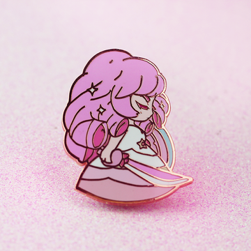SU ROSE QUARTZ ENAMEL PIN