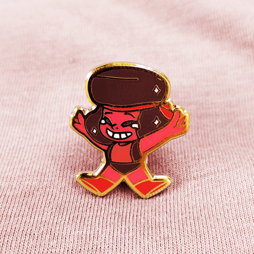 SU RUBY ENAMEL PIN