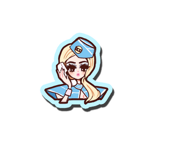 VINYL STICKER POP GIRL BRITNEY TOXIC [PREORDER]