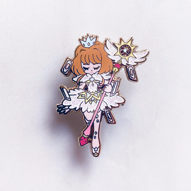 SAKURA - WHITE CLEAR CARD ENAMEL PIN [CCS]