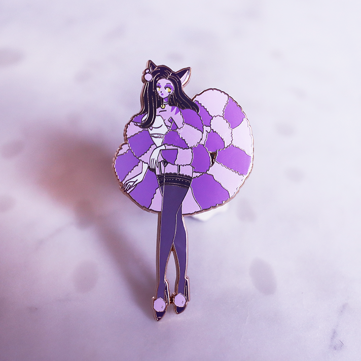 WONDERLAND CHESIRE CAT PURPLE DELUXE ENAMEL PIN [PATREON] [LIMITED EDITION]