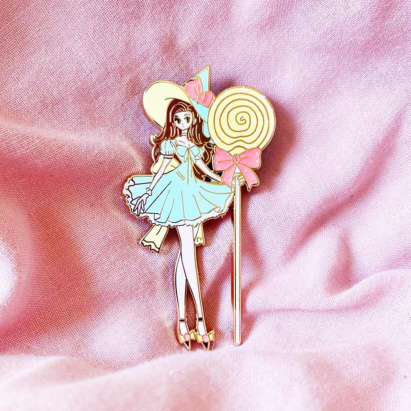 [PREORDER] SWEETS WITCH [GOMI] ENAMEL PIN