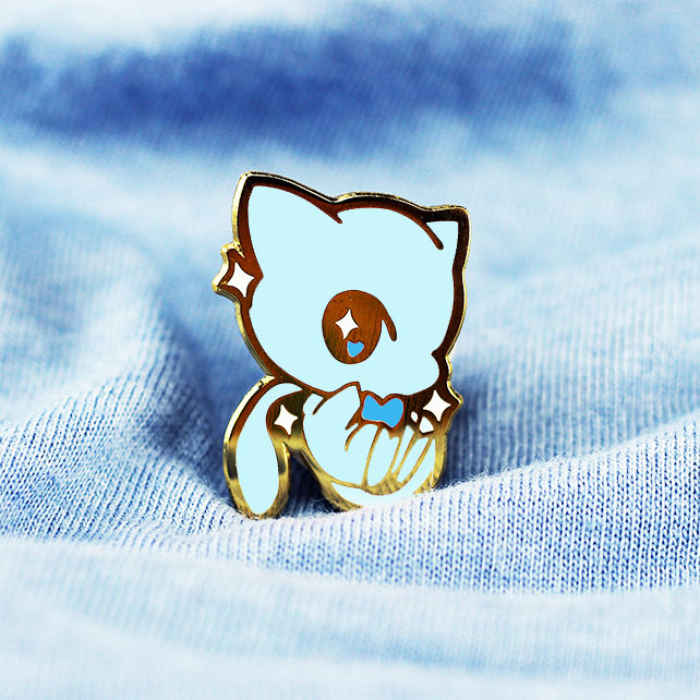 BABY MEW ENAMEL PIN [SHINY BLUE]