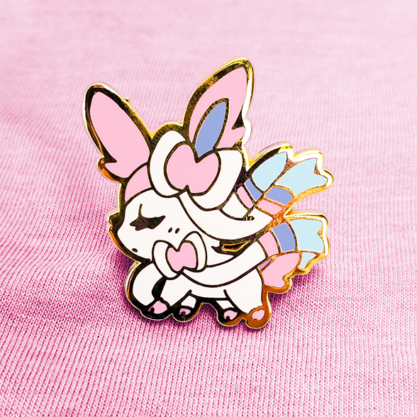 SWEET SYLVEON ENAMEL PIN