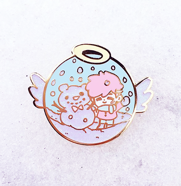 MAGICAL SNOW GLOBE ENAMEL PIN