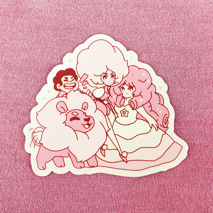 SU PINK FAMILY VINYL STICKER