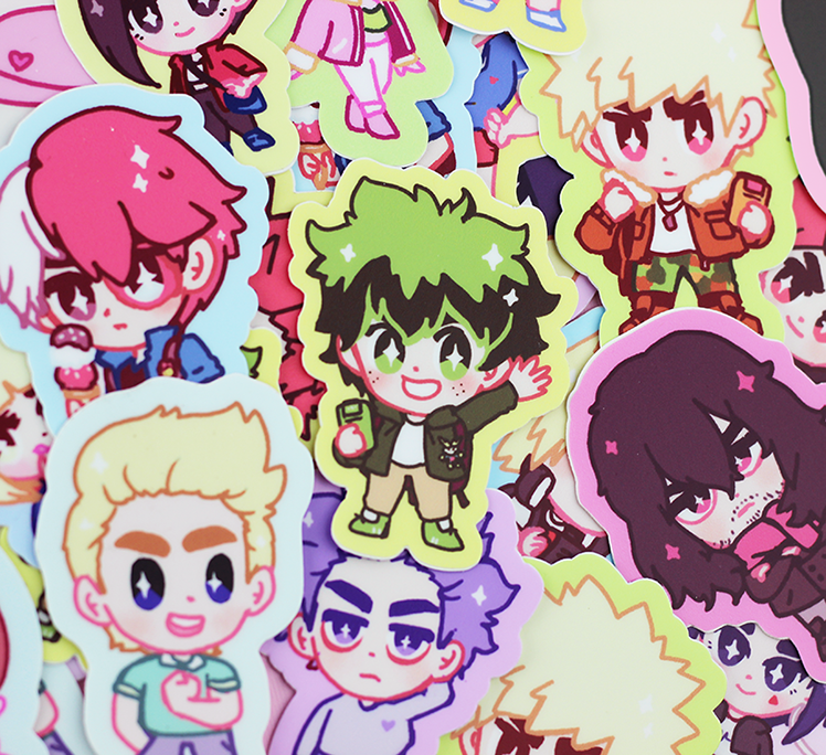 BNHA CASUAL HEROES STICKERS