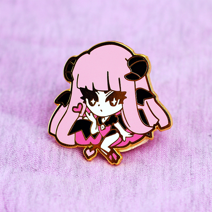 SUCCUBAE GIRL ENAMEL PIN