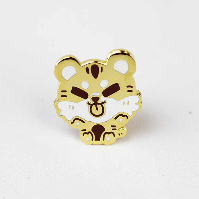 ZODIAC TIGER GOLD ENAMEL PIN [LIMITED EDITION]