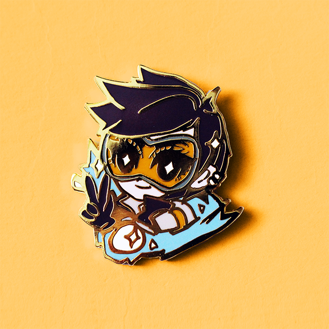 OVERWATCH TRACER ENAMEL PIN