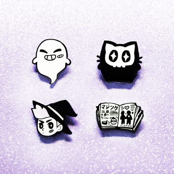 WITCH BOY LOVE SPELL ENAMEL PIN SET