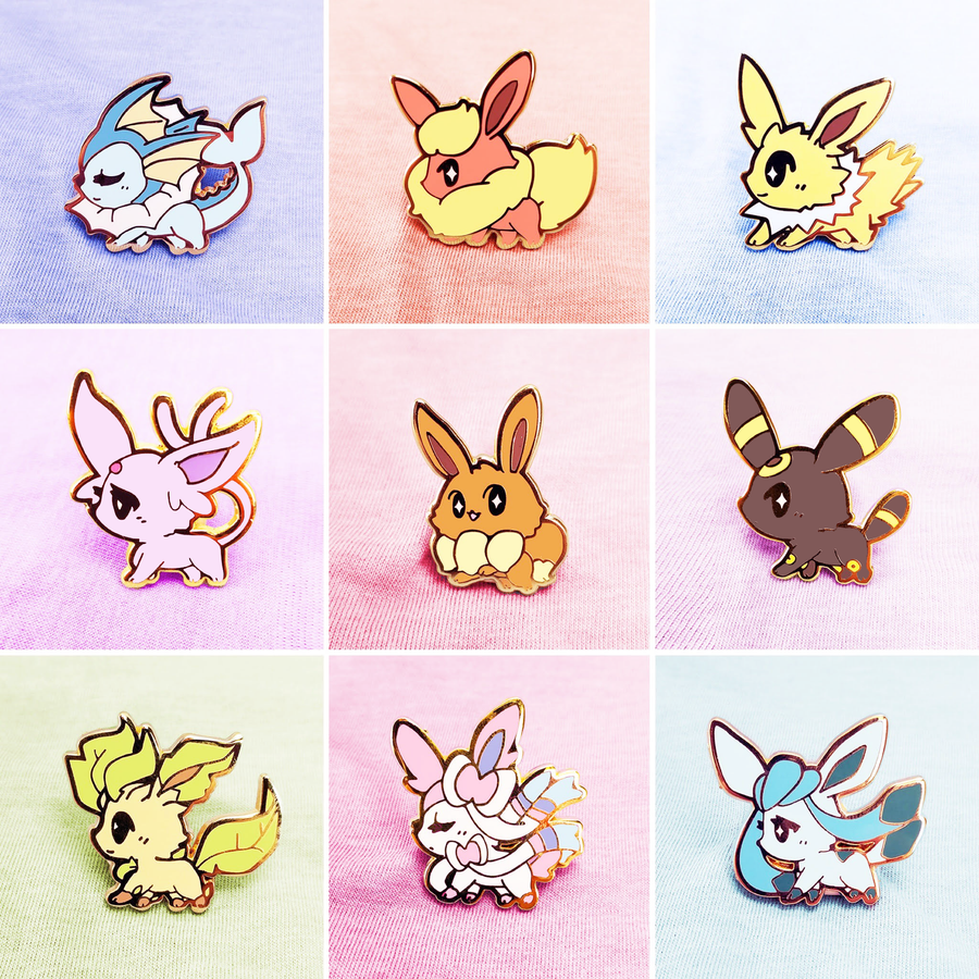 SWEET EEVEELUTIONS ENAMEL PIN SET [9 PC SET]